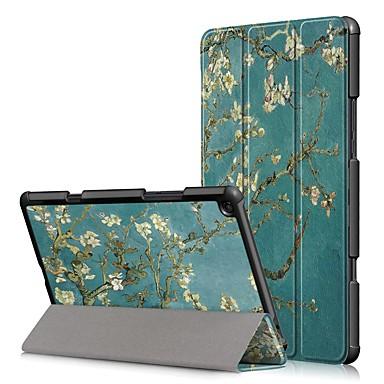 Недорогие Чехлы и кейсы для Xiaomi-Кейс для Назначение Xiaomi Xiaomi Tab 4 Plus Защита от удара / Флип / Оригами Чехол Цветы Твердый Кожа PU