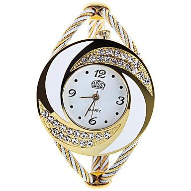 ราคาถูก นาฬิกาข้อมือ-สำหรับผู้หญิง นาฬิกาหรู นาฬิกาแฟชั่น นาฬิกาสร้อยข้อมือ นาฬิกาอิเล็กทรอนิกส์ (Quartz) ดำ / สีขาว / ฟ้า ระบบอนาล็อก สุภาพสตรี วิบวับ กำไล - แดง ฟ้า สีชมพู หนึ่งปี อายุการใช้งานแบตเตอรี่ / SSUO 377