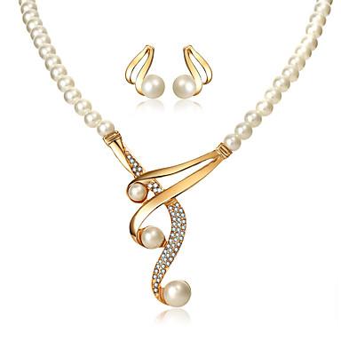 b407d7d9fe9a Mujer Cuentas Conjunto de joyas Perla Artificial