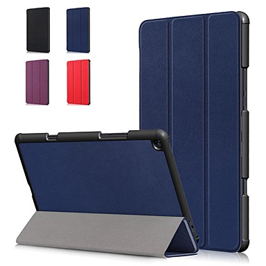Недорогие Чехлы и кейсы для Xiaomi-Кейс для Назначение Xiaomi Xiaomi Tab 4 Plus Защита от удара / Флип / Оригами Чехол Однотонный Твердый Кожа PU