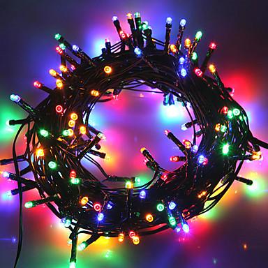 10m Žice sa svjetlima 50 LED diode 1 Postavite nosač montaže Toplo bijelo / Hladno bijelo / RGB Vodootporno / Sunce / Party Napelemes 1set