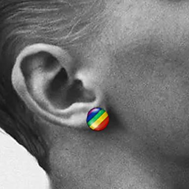 olcso Fülbevalók-Férfi Női Beszúrós fülbevalók meleg fülbevaló Díszes divatba jövő Rozsdamentes acél Fülbevaló Ékszerek Ezüst Kompatibilitás Esküvő Eljegyzés Farsang Utca Klub 1 pár