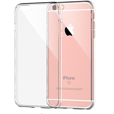 voordelige iPhone 6 Plus hoesjes-hoesje Voor Apple iPhone 8 Plus / iPhone 8 / iPhone 7 Plus Schokbestendig / Transparant Achterkant Effen Zacht TPU