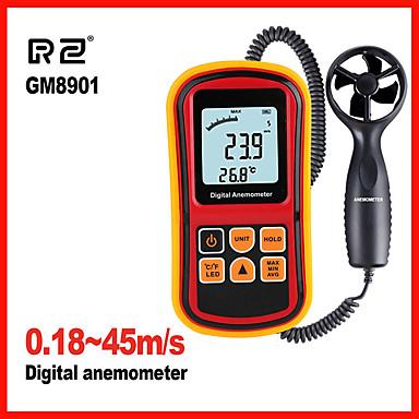 visoka kvaliteta anemometar mjerenje brzine vjetra, temperatura mjerenje digitalni 45 m / s termometar ručni mjerni alat gm8901