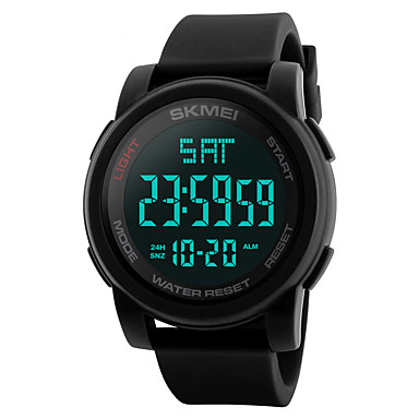 Недорогие Часы на металлическом ремешке-SKMEI Муж. электронные часы Цифровой На каждый день Защита от влаги Цифровой Черный Синий Зеленый / Нержавеющая сталь / силиконовый / Календарь / С двумя часовыми поясами / Хронометр