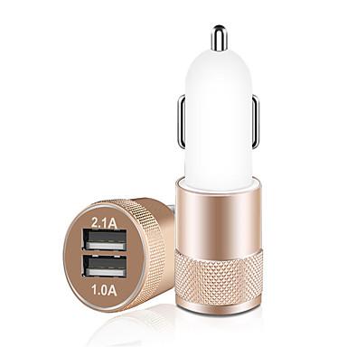 olcso Újdonságok-autós töltő, 3.1a kettős usb cigarettagyújtó adapter, alumínium ötvözet gyors autós töltés mini