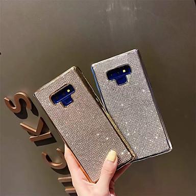 Недорогие Чехлы и кейсы для Galaxy Note-Кейс для Назначение SSamsung Galaxy Note 9 / Note 8 Стразы Кейс на заднюю панель Однотонный Мягкий ТПУ