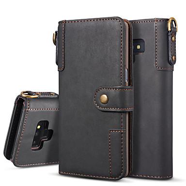 Недорогие Чехлы и кейсы для Galaxy Note-Кейс для Назначение SSamsung Galaxy Note 9 / Note 8 Кошелек / Флип / Магнитный Чехол Однотонный Твердый Кожа PU