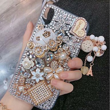 voordelige iPhone X hoesjes-hoesje Voor Apple iPhone XS / iPhone XR / iPhone XS Max Strass Achterkant Glitterglans Hard TPU