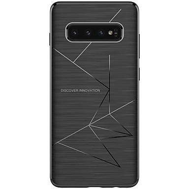 رخيصةأون حافظات / جرابات هواتف جالكسي S-غطاء من أجل Samsung Galaxy S9 / S9 Plus / Galaxy S10 ضد الصدمات / مثلج / نموذج غطاء خلفي نموذج هندسي ناعم TPU