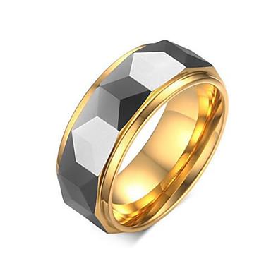 povoljno Prstenje-Muškarci Prsten 1pc Zlato Volfram čelik Geometric Shape Stilski Party Praznik Jewelry Klasičan Cool