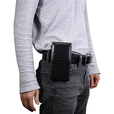 Недорогие Универсальные чехлы и сумочки-Кейс для Назначение Blackberry / Apple / SSamsung Galaxy Универсальный Бумажник для карт Поясные сумки Однотонный Мягкий Кожа PU