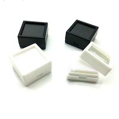 olcso Ékszer csomagolás és kiállítás-Kocka alakú / köb Ékszerdobozok - Fekete, Fehér 3 cm 3 cm 2 cm / 4db