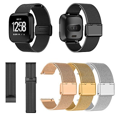Недорогие Аксессуары для мобильных телефонов-Ремешок для часов для Fitbit Versa / Fitbit Versa Lite Fitbit Миланский ремешок Нержавеющая сталь Повязка на запястье