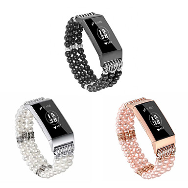 Недорогие Аксессуары для смарт-часов-Ремешок для часов для Fitbit Charge 3 Fitbit Дизайн украшения Керамика Повязка на запястье