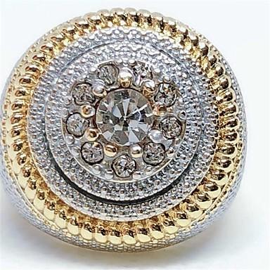 رجالي خاتم 1PC ذهبي حجر الراين سبيكة أوروبي هيب هوب مناسب للبس اليومي مجوهرات