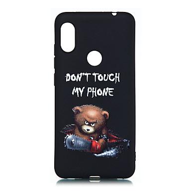 povoljno Maske za mobitele-Θήκη Za Xiaomi Redmi Note 5A / Xiaomi Redmi Note 5 Pro / Xiaomi Pocophone F1 Mutno / Uzorak Stražnja maska Riječ / izreka / Životinja Mekano TPU / Xiaomi Redmi Note 4X / Xiaomi Redmi Note 4