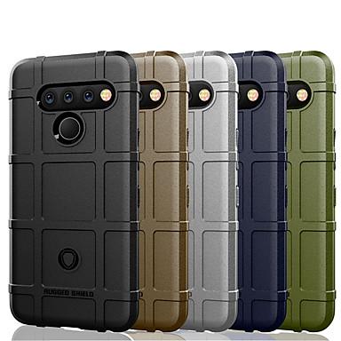 Недорогие Чехлы и кейсы для LG-Кейс для Назначение LG LG V35 ThinQ / LG V30 / LG V30+ Защита от удара Кейс на заднюю панель Однотонный Мягкий ТПУ