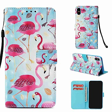 cheap iPhone Cases-Case For Apple iPhone XS / iPhone XR / iPhone XS Max Wallet / Card Holder / with Stand Full Body Cases Animal Hard PU Leather