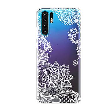 رخيصةأون Huawei أغطية / كفرات-غطاء من أجل Huawei Huawei P20 / Huawei P20 Pro / Huawei P20 lite شفاف / نموذج غطاء خلفي زهور ناعم TPU / P10 Lite / P10