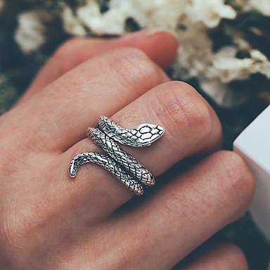olcso Férfi ékszerek-Férfi Gyűrű 1db Ezüst Ötvözet divatba jövő Divat Napi Utca Ékszerek Retro Kígyó Menő