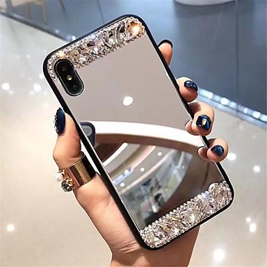 voordelige iPhone-hoesjes-hoesje Voor Apple iPhone XS / iPhone XR / iPhone XS Max Strass / Spiegel Achterkant Tegel Hard Gehard glas