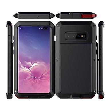 Недорогие Чехлы и кейсы для Galaxy S-Кейс для Назначение SSamsung Galaxy Galaxy S10 Plus Водонепроницаемый / Защита от удара / Защита от пыли Чехол Однотонный Твердый Металл