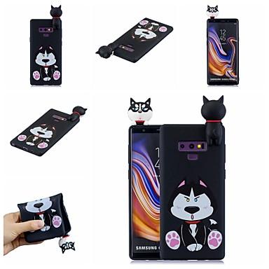 Недорогие Чехлы и кейсы для Galaxy Note-Кейс для Назначение SSamsung Galaxy Note 9 / Note 8 С узором Кейс на заднюю панель С собакой / Мультипликация Мягкий ТПУ