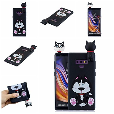 voordelige Galaxy Note-serie hoesjes / covers-hoesje Voor Samsung Galaxy Note 9 / Note 8 Patroon Achterkant Hond / Cartoon Zacht TPU