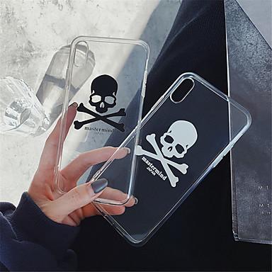 voordelige iPhone 6 hoesjes-hoesje Voor Apple iPhone XS / iPhone XR / iPhone XS Max Transparant / Patroon Achterkant Doodskoppen Zacht TPU
