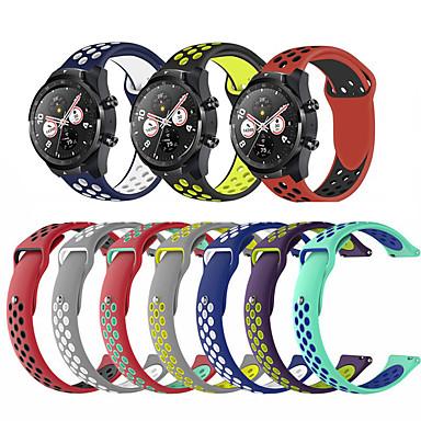 Недорогие Аксессуары для смарт-часов-Ремешок для часов для Watch 2 Pro Huawei Спортивный ремешок силиконовый Повязка на запястье