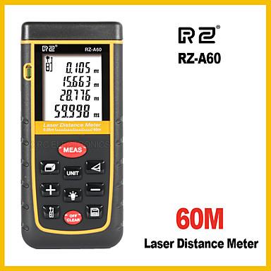 rz-laserski udaljenost metar daljinomjer tražilo 60m elektronski vladar digitalne trake mjeru područje volumen alat