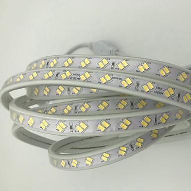 olcso LED szalagfények-15 m LED-es szalagfények 1800 LED 5730 SMD Meleg fehér / Hideg fehér Vízálló / Cuttable / Dekoratív 220-240 V 1db