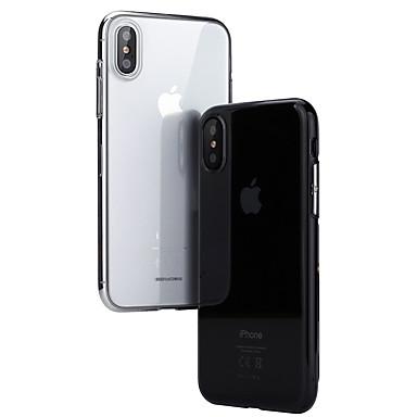 voordelige iPhone-hoesjes-hoesje Voor Apple iPhone XS / iPhone X Mat / Doorzichtig Achterkant Effen Hard PC