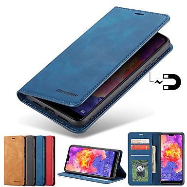 povoljno Maske/futrole za Galaxy S seriju-Θήκη Za Samsung Galaxy S9 / S9 Plus / S8 Plus Utor za kartice / sa stalkom / S magnetom Korice Jednobojni Tvrdo PU koža