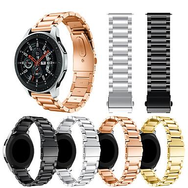 halpa Matkapuhelimen lisävarusteet-Watch Band varten Samsung Galaxy Watch 46 Samsung Galaxy Urheiluhihna / Perinteinen solki Metalli / Ruostumaton teräs Rannehihna
