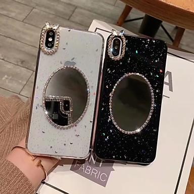 Недорогие Кейсы для iPhone X-Кейс для Назначение Apple iPhone XS / iPhone XR / iPhone XS Max Зеркальная поверхность / Полупрозрачный / Сияние и блеск Кейс на заднюю панель Сияние и блеск Твердый ТПУ