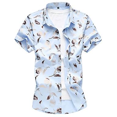 رخيصةأون قمصان رجالي-رجالي طباعة قياس كبير - قطن قميص, ورد نحيل