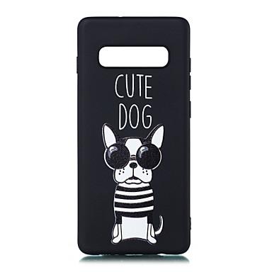 voordelige Galaxy S-serie hoesjes / covers-hoesje Voor Samsung Galaxy S9 / S9 Plus / S8 Plus Mat / Patroon Achterkant Hond Zacht TPU
