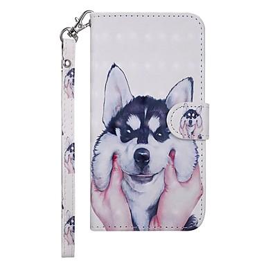 Недорогие Чехлы и кейсы для Galaxy S-Кейс для Назначение SSamsung Galaxy Galaxy S10 E Кошелек / Бумажник для карт / со стендом Чехол С собакой Твердый Кожа PU