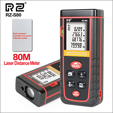 לייזר מרחק דיגיטלי מטר מיני כף יד נייד rangefinder לייזר מרחק מטר rz-s80