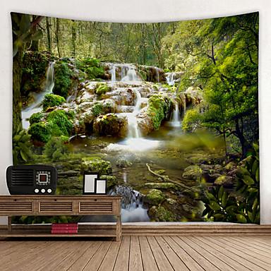 levne Výzdoba stěn-Zahradní motiv / Květinový motiv Wall Decor 100% polyester Moderní Wall Art, Nástěnné tapiserie Dekorace