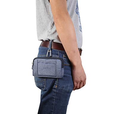 Недорогие Универсальные чехлы и сумочки-Кейс для Назначение Blackberry / Apple / SSamsung Galaxy Универсальный Бумажник для карт Поясные сумки Однотонный Мягкий текстильный