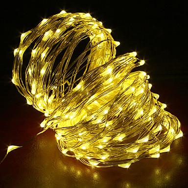 20m Žice sa svjetlima 200 LED diode Toplo bijelo / RGB / Bijela Kreativan / Cuttable / Party 12 V 1pc