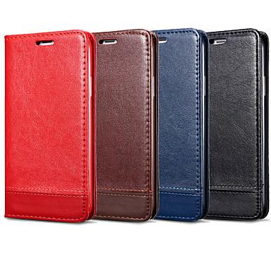 Недорогие Чехлы и кейсы для Galaxy Note-Кейс для Назначение SSamsung Galaxy Note 9 / Note 8 / Note 5 Бумажник для карт / Флип Чехол Однотонный Твердый Кожа PU