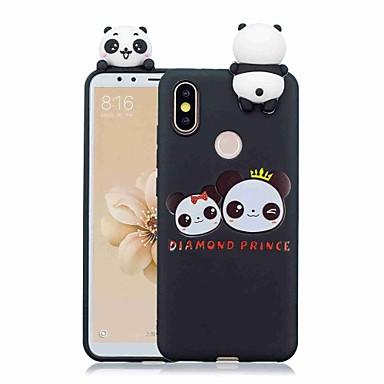 Недорогие Чехлы и кейсы для Xiaomi-Кейс для Назначение Xiaomi Redmi Note 5A / Xiaomi Redmi Note 5 Pro / Xiaomi Redmi Note 6 С узором Кейс на заднюю панель Мультипликация / Панда Мягкий ТПУ