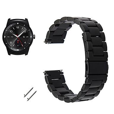 baratos Watch Bands for LG-Pulseiras de Relógio para LG G Watch W100 / LG G Watch R W110 / LG Watch Urbane W150 LG Pulseira Esportiva / Fecho Clássico Metal / Aço Inoxidável Tira de Pulso