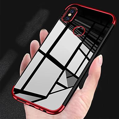 رخيصةأون Xiaomi أغطية / كفرات-غطاء من أجل Xiaomi Xiaomi Pocophone F1 / Xiaomi Mi Play / Xiaomi Mi 8 تصفيح / نحيف جداً / شفاف غطاء خلفي لون سادة ناعم TPU / Xiaomi Mi 6