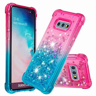 Недорогие Чехлы и кейсы для Galaxy S-Кейс для Назначение SSamsung Galaxy S9 / S9 Plus / S8 Plus Защита от удара / Движущаяся жидкость Кейс на заднюю панель Сияние и блеск / Градиент цвета Мягкий ТПУ