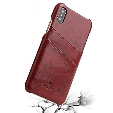 Недорогие Кейсы для iPhone-Кейс для Назначение Apple iPhone XS / iPhone XR / iPhone XS Max Бумажник для карт Кейс на заднюю панель Однотонный Мягкий ТПУ